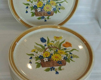 Dinner Plates in Garden Bouquet pattern #F5815 by Mikasa Stoneware. 2 plates : mikasa dining plates - pezcame.com