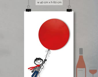 print - red balloon (40 x 60cm)