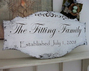 FAMILY NAME SIGNS, Wedding Signs, Established Signs, Personalized Signs, 27 x 14