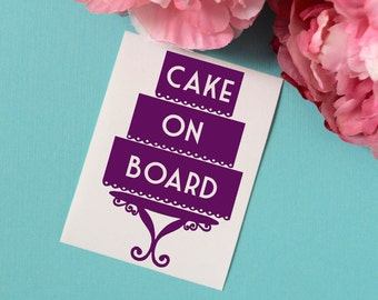 Cake On Board Vinyl Car Decal, Cake Decorator