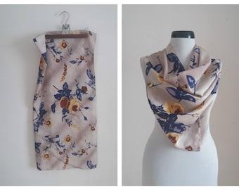 Vintage silk scarf | printed silk scarf