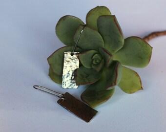 Rectangle Earrings - Stainless Steel