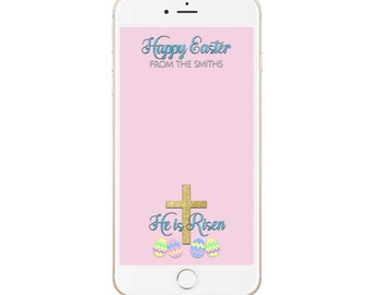 Easter Snapchat Filter, Easter Religious Geofilter, He is Risen Filter