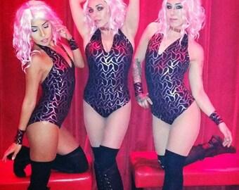 Pretty in pink halter bodysuit