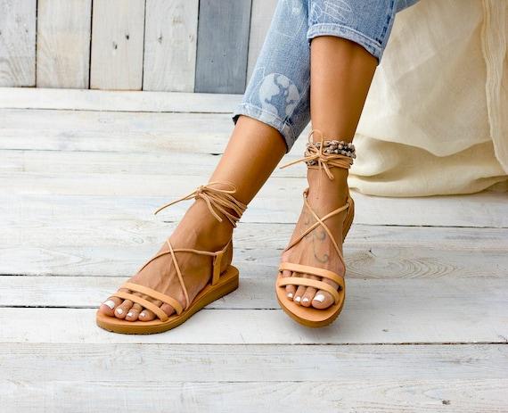 leather sandals sandals leather sandals sandals lace women Greek up TILOS sandals gladiator Leather sandals Greek WSnq5w6Az4
