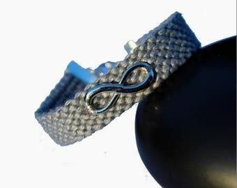 "Cuff friendship bracelet, model ""Infinity"", grey"