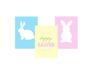Happy Easter Set of 3 Prints
