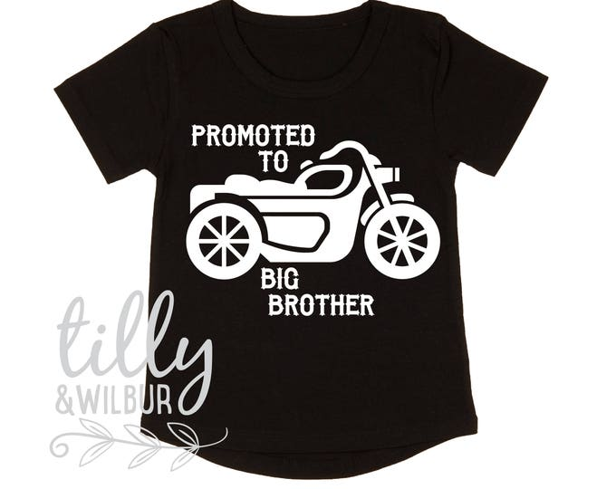 Promoted To Big Brother Motorbike T-Shirt For Boys