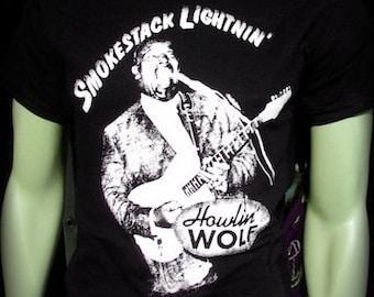 Smokestack Lightnin Howlin wolf t shirt blues rockabilly delta blues