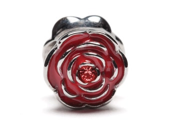 Rose Bead Charm Jewelry