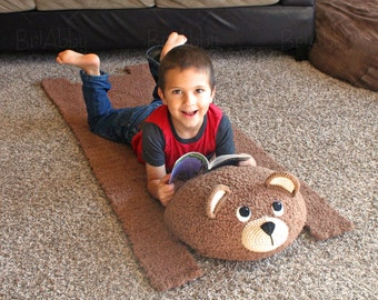 Travel Bear Mat / Backpack Pattern (PDF FILE- Panda & Brown / Teddy Bear Instructions)