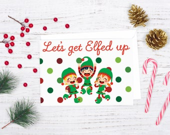 lets get lit christmas card santa christmas card download