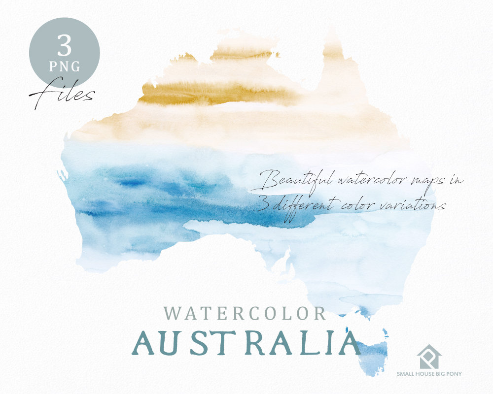 Australia map watercolor world map instant download digital map australia map watercolor world map instant download digital map map clipart wall art color map clip art custom map watercolor map gumiabroncs Image collections