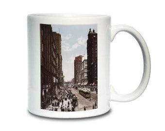 Coffee Mug; State Street Chicago 1900