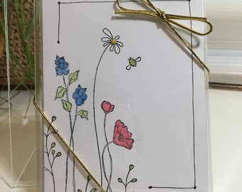 Set of 4-Flower Garden All Occasion Greeting Cards