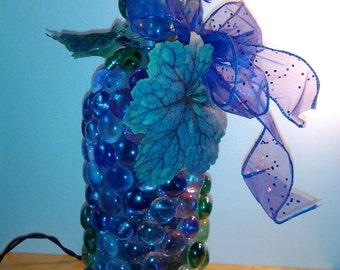 Purple Grapes Wine Bottle Light