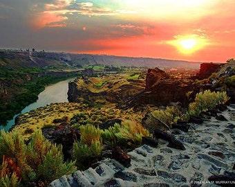 Lanscape Photography Sunset Color Photo, Size 12x18, 16x24, 20x30, Sunset Photography, Sunset Art, Wall Art