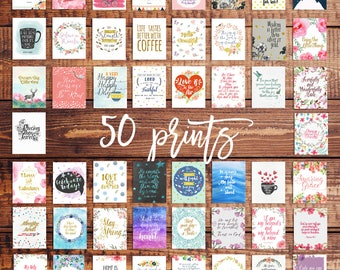 SALE Bundle of 50 art prints, Dorm Decor, Printable Art Bundle, Bathroom Decor, Apartment Decor, Art Prints, Art Bundle Art Prints Bundle