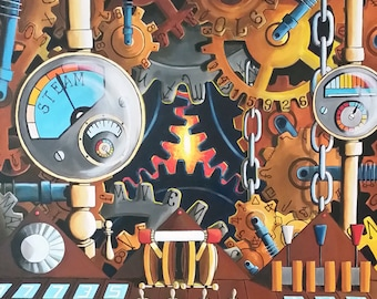 Time Machine #2// Oil on Canvas//20x24//Time Machine Painting//