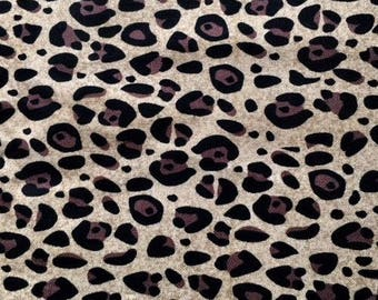 SALE Leopard Animal Print - Cotton Fabric - Brother Sister Design Studio