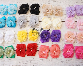 Baby barefoot sandals- barefoot sandals- girls flower sandals - baby flower sandals- flower girl sandals- baby shoes- baby footies- girls