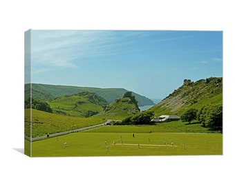 The Last Over Before Tea (Cricket at the Valley of Rocks) canvas print