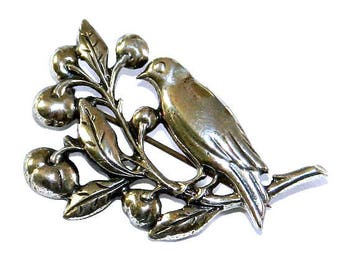 Vintage Sterling Silver Bird Brooch by Danecraft