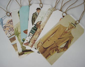 Masculine Tags, Dapper Men Tags, 1930s men's fashion tags, 1930s fashion, masculine birthday, vintage fashion tags, scrapbooking tags