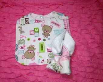 Baby Bib and Washcloth Set
