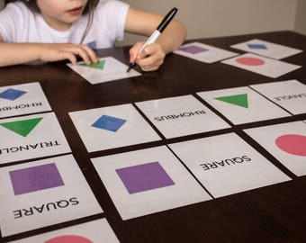 Shapes Cards Pack