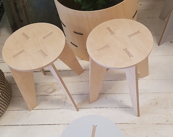 Birch Plywood Stool