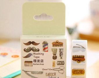 Barber Shop Washi Tape