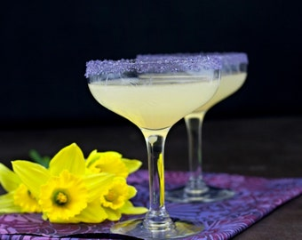 Purple Organic Salt Rim Great for a Purple Wedding Margarita Bar and Wedding Cocktails