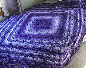 Virus Afghan in Purple Colors