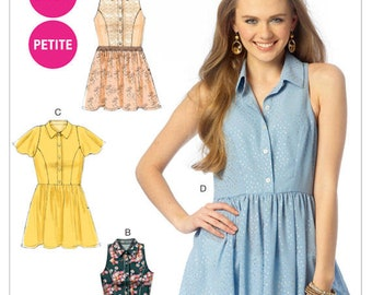 McCall's M6925 Size 6-14 Misses'/Women's Petite Tops, Tunic and Dress Sewing Pattern / Uncut/FF