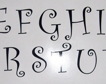 """3"""" Vinyl Letter Decals, All 26 letters or 26 of one letter"""