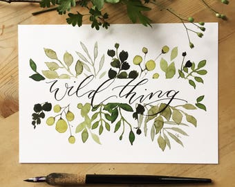 Wild Thing A5 Print