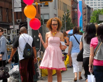 New York Photography, New York City Wall Art, Balloon Girl,Street Photography,Fine Art Photography, Signed Print by Deborah Julian