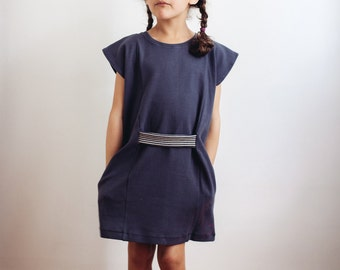 Tunic dress from organic cotton (mother-daughter-look)