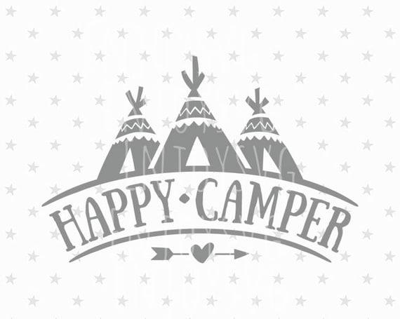 Happy Camper SVG Camping File Tent Svg