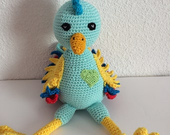 The rooster, Victor baby kids handmade crochet handmade, home of the Rainbow Ghis