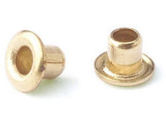 Brass eyelets, package of 100, choice of size!