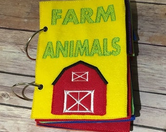 Farm Animal Busy Book, Kids, Toddlers, Play, Activity