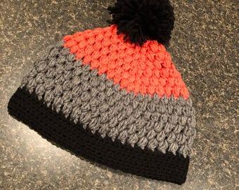 Colorblock Crochet Toboggan
