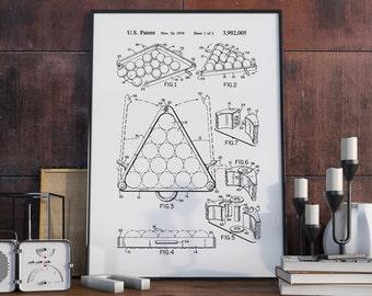 Billiards Patent Poster, Billiards Art, Billiards Room, Pool Room, Patent Poster, Billiards Patent - DA0283