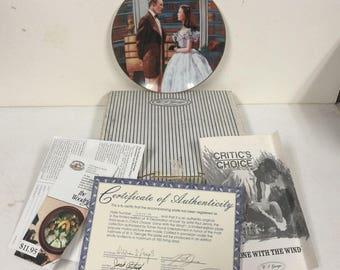 1991 Gone with the Wind A Declaration of Love Plate 3rd Issue LE w Box COA