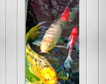 Koi Fish Wall Art, Koi Fish, Island Art, Koi Home Decor, Key West Style, Casual Style and Sophistication