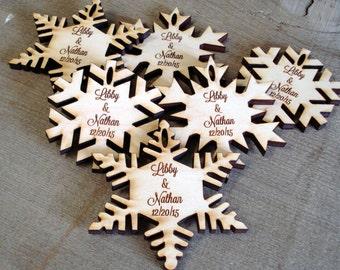 90 Snowflake Wedding Favors
