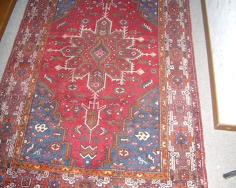 Authentique Tapis d'Orient, Perse, Zindjan, tapis hamadan, kilim, oushag, shiraz, laine noué main, antique vers 1930