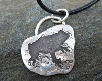 Frog Pendant, Sterling Silver Necklace, Frog Talisman, Made in NH, Totem, Prosperity, Fertility, Hope, Nature Jewelry, Frog Medicine
